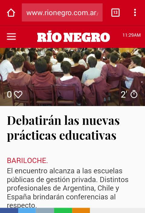 coordiep 2017_Diario Rio Negro_Anticipo del Encuentro