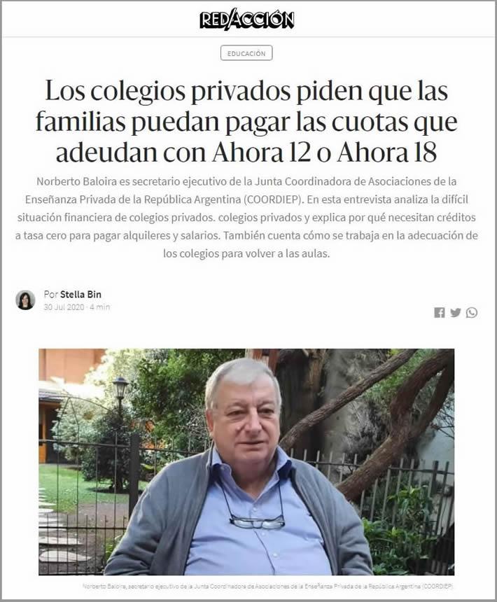 coordip 2020_Norberto Baloira entrevistado por Redaccion